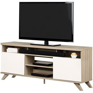 Current South Shore Evane Tv Stands With Doors In Oak Camel With Regard To South Shore Tv Stands (View 12 of 15)