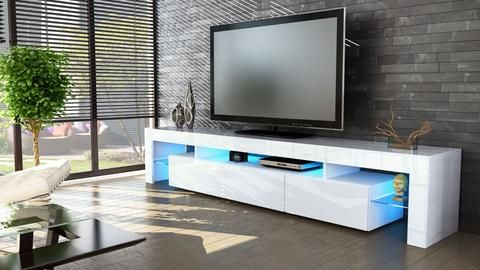 """Current White High Gloss Tv Stands Intended For Tv Stand """"Lima V2"""" – White High Gloss / Various Color (View 2 of 15)"""