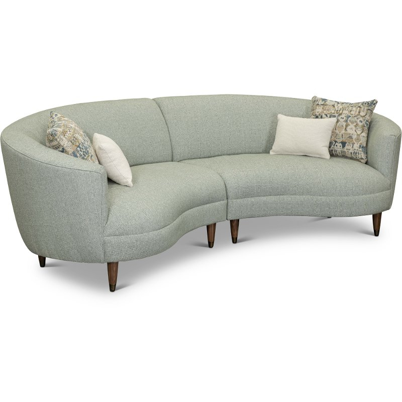 Curved Conversation Sectional Sofa Are Leather In French Seamed Sectional Sofas Oblong Mustard (View 8 of 15)