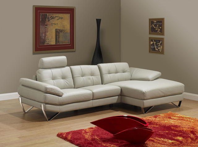 Dallas Light Grey Right Sectional Sofa – Modern Pertaining To Ludovic Contemporary Sofas Light Gray (View 6 of 15)