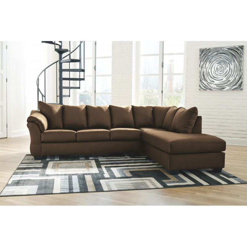 Darcy – Cafe – Laf Sofa & Raf Corner Chaise Sectional With Regard To Turdur 2 Piece Sectionals With Laf Loveseat (View 12 of 15)