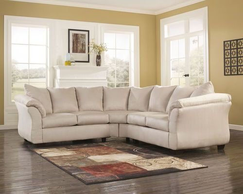Darcy Stone Left Arm Facing/Right Arm Facing Loveseat With Dulce Right Sectional Sofas Twill Stone (View 11 of 15)
