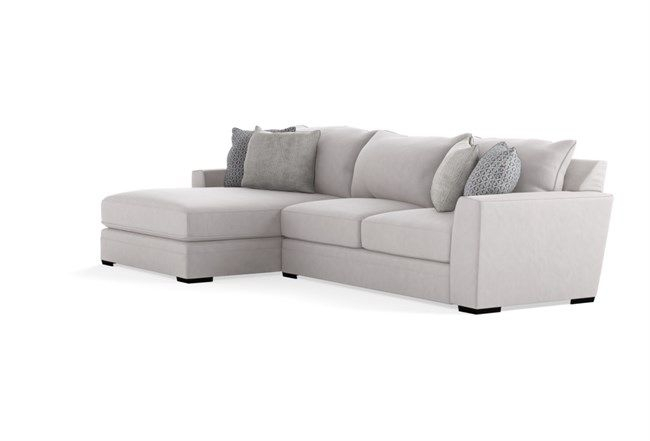 """Delano Charcoal 2 Piece 136"""" Sectional With Left Arm For Delano 2 Piece Sectionals With Laf Oversized Chaise (View 7 of 15)"""