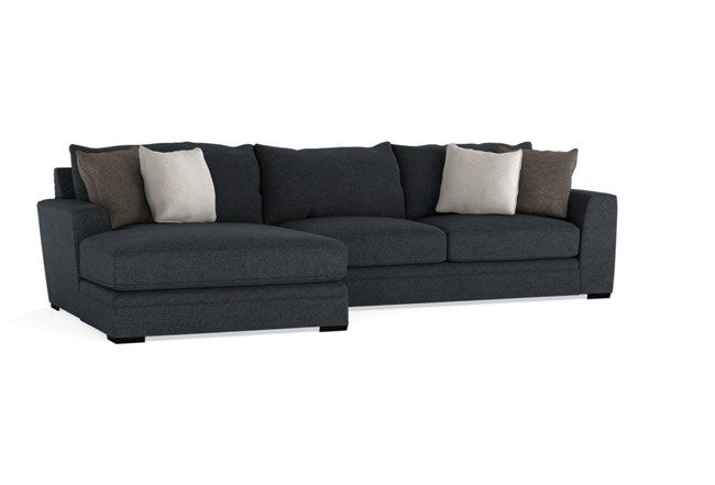 """Delano Charcoal 2 Piece 136"""" Sectional With Left Arm Inside Delano 2 Piece Sectionals With Laf Oversized Chaise (View 15 of 15)"""