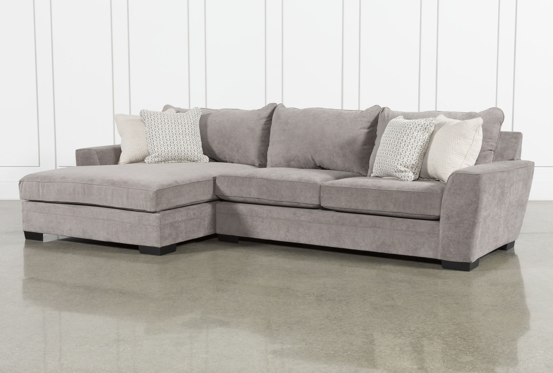 """Delano Charcoal 2 Piece 136"""" Sectional With Left Arm Inside Delano 2 Piece Sectionals With Laf Oversized Chaise (View 4 of 15)"""