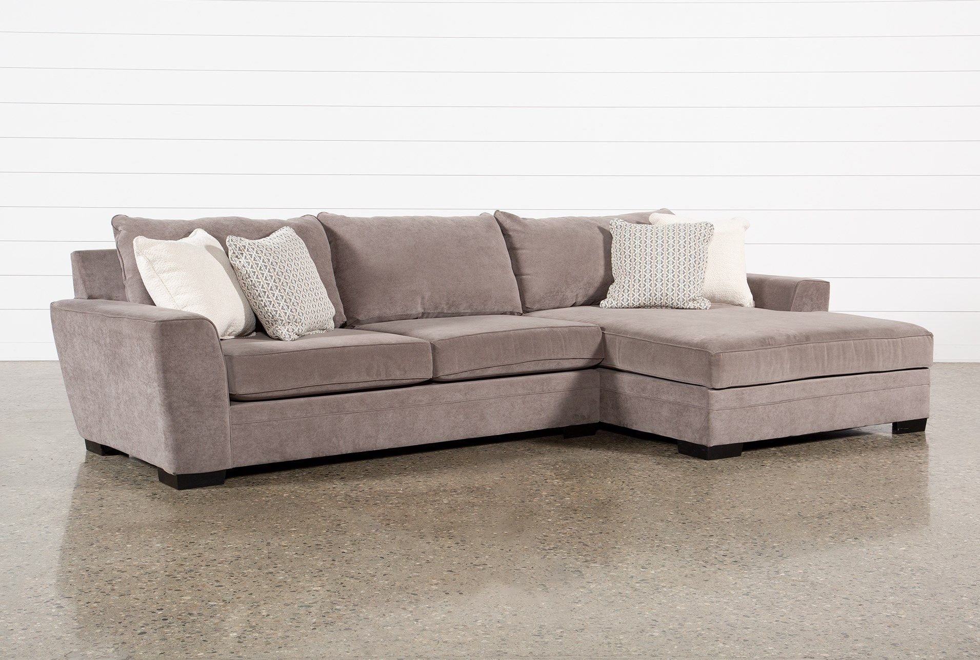 Delano Charcoal 2 Piece Sectional With Right Arm Facing Pertaining To Delano 2 Piece Sectionals With Laf Oversized Chaise (View 6 of 15)