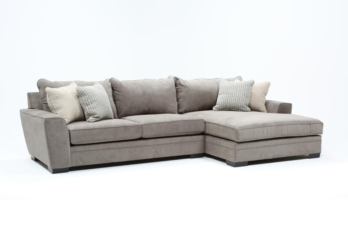 Delano Charcoal 2 Piece Sectional With Right Arm Facing Within Delano 2 Piece Sectionals With Laf Oversized Chaise (View 8 of 15)