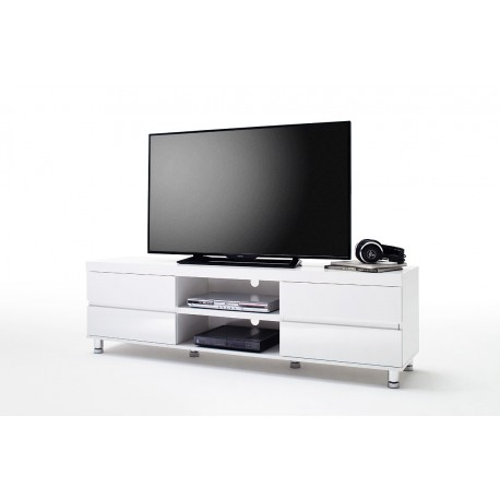 Dion I – White High Gloss Tv Unit – Tv Stands (3127 Pertaining To 2018 White High Gloss Tv Stands (View 9 of 15)