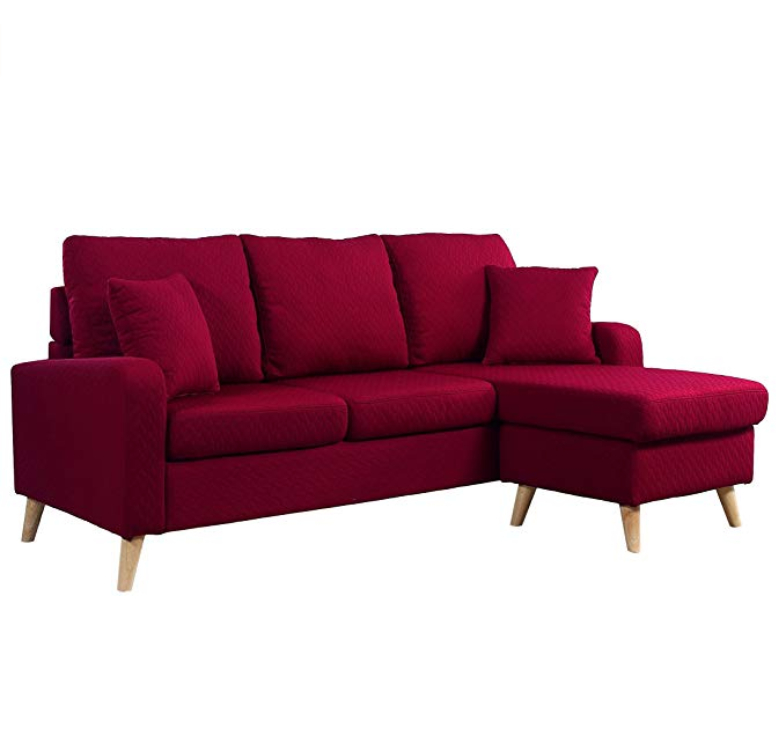 Divano Roma Furniture Mid Century Modern Linen Fabric With Verona Mid Century Reversible Sectional Sofas (View 15 of 15)