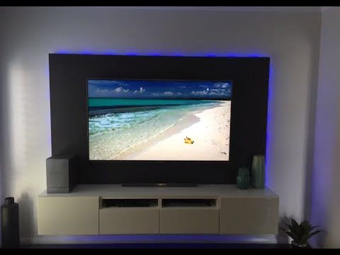 """Diy Floating Wall & Unit With Led Lighting For 70"""" Tv For Newest High Glass Modern Entertainment Tv Stands For Living Room Bedroom (View 11 of 15)"""