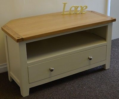 Dorset Oak Corner Tv Unit Solid Cabinet Pine In Painted For Most Recently Released Compton Ivory Corner Tv Stands (View 6 of 15)