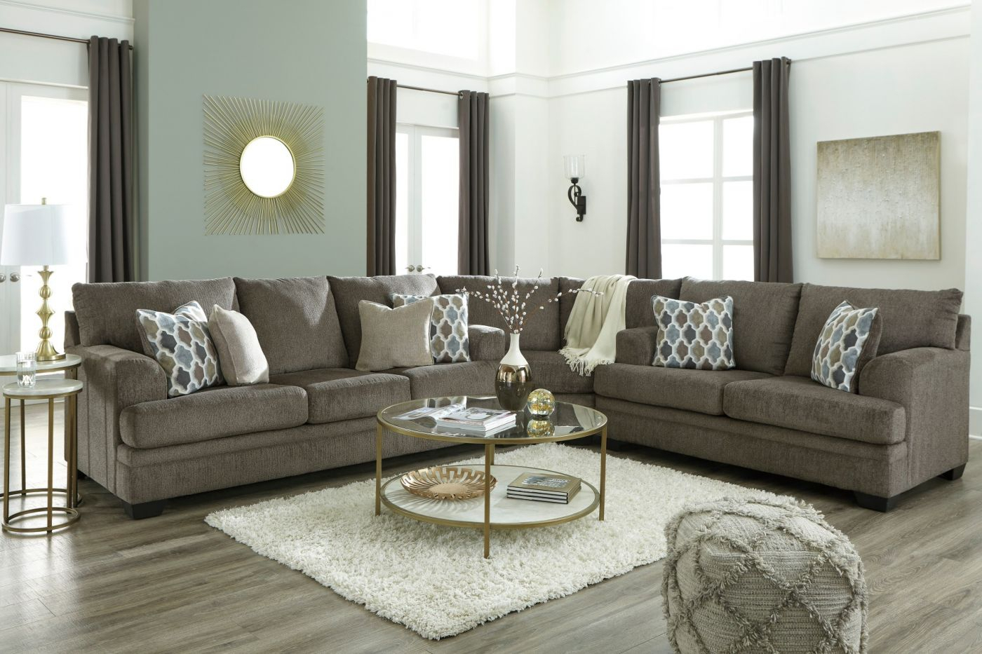 Dorsten Slate Sectional Signature Designashley Product Pertaining To Houston Sectional Sofas (View 14 of 15)