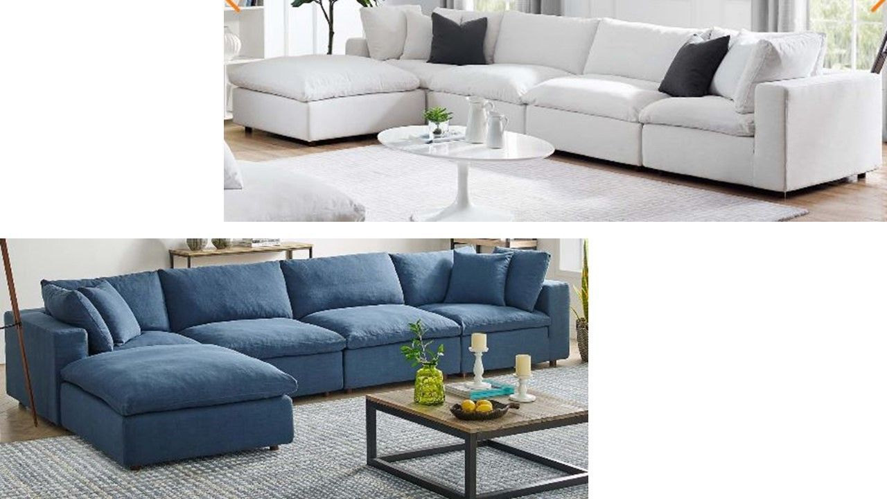Down Filled Sectionals Modway Furniture Living Room L Inside Down Filled Sectional Sofas (View 3 of 15)