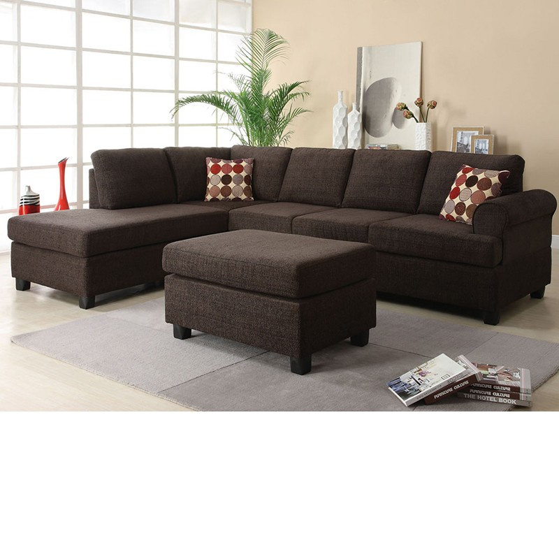 Dreamfurniture – 50540 Donovan Butler Onyx Morgan With Regard To Copenhagen Reversible Small Space Sectional Sofas With Storage (View 7 of 15)