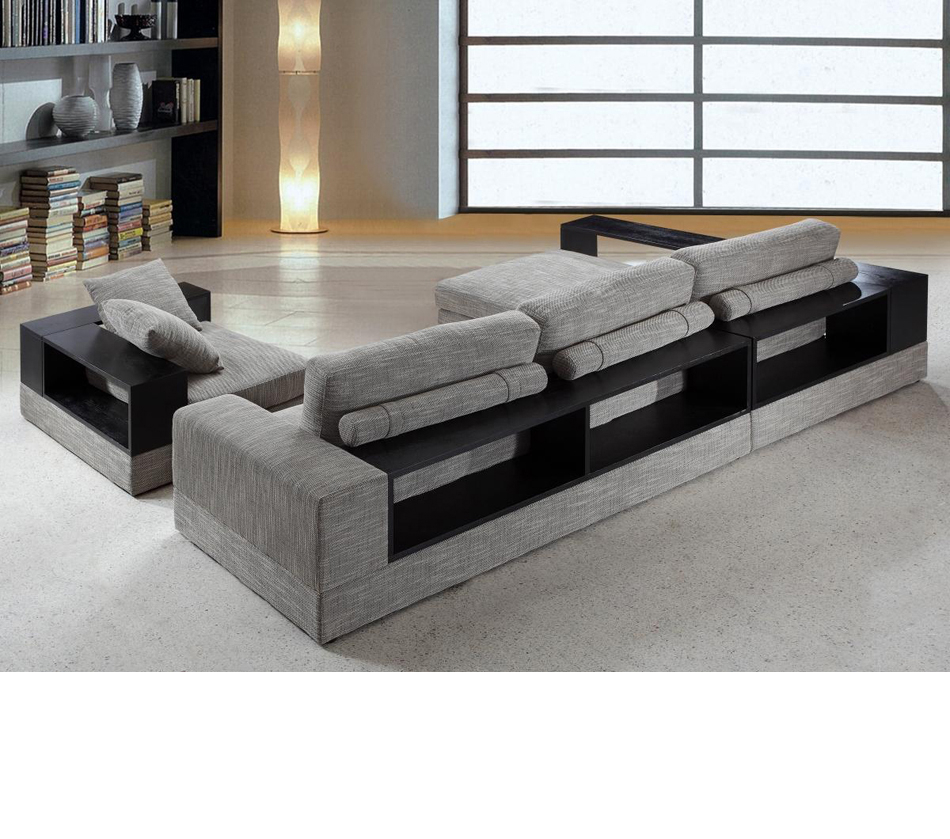Dreamfurniture – Divani Casa Anthem – Modern Fabric For 4Pc Crowningshield Contemporary Chaise Sectional Sofas (View 9 of 15)