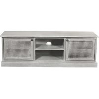 Dunelm 5054077927222 Lucy Cane Grey Corner Tv Stand Slate Inside Favorite Compton Ivory Extra Wide Tv Stands (View 9 of 15)