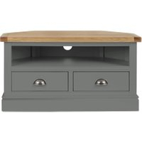 Dunelm 5054077927222 Lucy Cane Grey Corner Tv Stand Slate Pertaining To 2018 Bromley Slate Corner Tv Stands (View 1 of 15)
