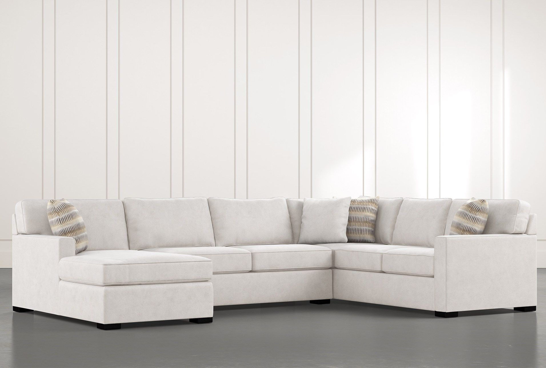 """Elm Ii Foam 3 Piece 136"""" Sectional With Right Arm Facing With Regard To Elm Grande Ii 2 Piece Sectionals (View 5 of 15)"""