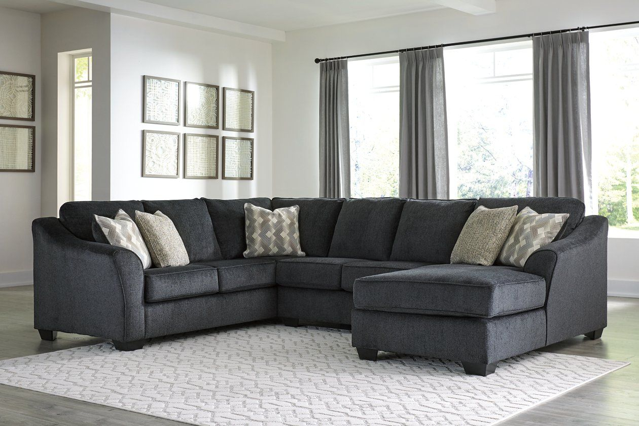 Eltmann 3 Piece Sectional With Chaise | 3 Piece Sectional With Regard To Norfolk Grey 3 Piece Sectionals With Laf Chaise (View 10 of 15)