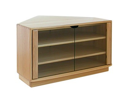 Ercol Windsor Corner Tv Unit – Tv & Media Units – Hafren Throughout Well Known Lucy Cane Cream Corner Tv Stands (View 1 of 15)