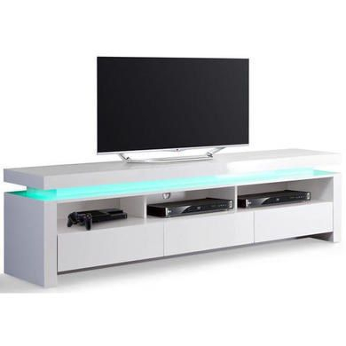 Evoque Led Tv Unit In White High Gloss With 3 Touch Open Within Trendy Zimtown Tv Stands With High Gloss Led Lights (View 13 of 15)