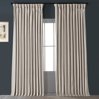 Exclusive Fabrics Ivory Velvet Blackout Extra Wide Curtain With Most Popular Compton Ivory Extra Wide Tv Stands (View 12 of 15)