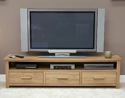 Famous Cotswold Widescreen Tv Unit Stands Pertaining To Boston Widescreen Tv Large Cabinet Stand Unit Solid Oak (View 14 of 15)