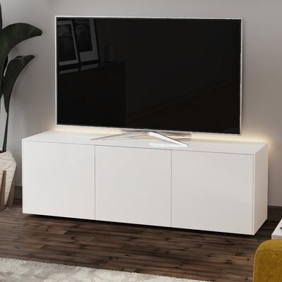 Famous High Gloss Tv Cabinets In High Gloss White Tv Cabinet 150Cm With Wireless Phone (View 5 of 15)