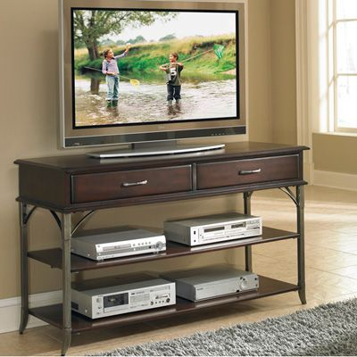 """Famous Margulies Tv Stands For Tvs Up To 60"""" Within Home Styles Espresso Bordeaux Tv Stand/Media Chest – Fits (View 5 of 15)"""