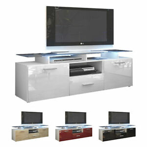 Famous Modern White Gloss Tv Stands Regarding White High Gloss Modern Tv Stand Unit Media Entertainment (View 1 of 15)