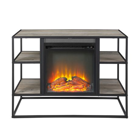 Famous Rustic Tv Stands With Regard To Manor Park Rustic Industrial Fireplace Tv Stand For Tv'S (View 9 of 15)