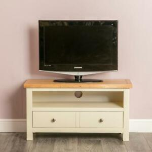 Farrow Cream Tv Unit Stand Small Painted Solid Wood Inside Fashionable Corona Grey Corner Tv Stands (View 3 of 15)