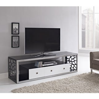 """Fashionable Broward Tv Stands For Tvs Up To 70"""" Pertaining To Shop Black Glass Modern 70 Inch Tv Stand – Free Shipping (View 5 of 15)"""