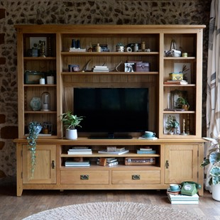 Fashionable Carbon Extra Wide Tv Unit Stands For Solid Wood Oak, Pine & Painted Tv Stands & Tv Units – The (View 10 of 15)