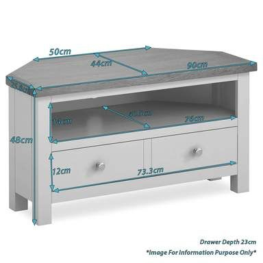Fashionable Compton Ivory Corner Tv Stands Throughout Farrow Grey Corner Tv Stand (View 14 of 15)