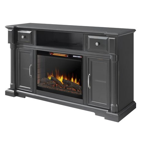 Fashionable Fireplace Media Console Tv Stands With Weathered Finish With Regard To Vermont 60 Inch Media Electric Fireplace With Bluetooth (View 7 of 15)