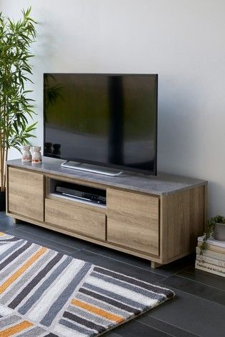 Fashionable Industrial Corner Tv Stands Regarding Buy Barkley Wide Tv Stand From The Next Uk Online Shop (View 1 of 15)