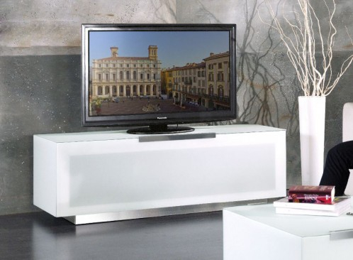 Fashionable Milano White Tv Stands With Led Lights With Regard To Bg422 Bio Bergamo Modern White Tv Stand Made In Italy (View 11 of 15)