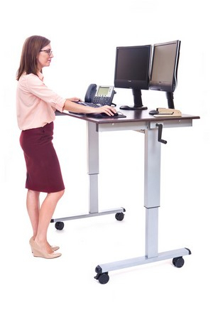 Fashionable Modern Black Tv Stands On Wheels With Metal Cart For C Standup Cf 48 Dw Sit To Stand Computer Desk (View 5 of 15)