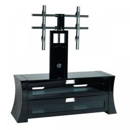 Favorite Cheap Cantilever Tv Stands Throughout Concave Sided Black Cantilever Tv Stand Sap1200 Gb B (View 5 of 15)