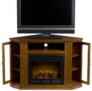 Favorite Compton Ivory Corner Tv Stands In Claremont Convertible Media Mahogany Electric Fireplace (View 2 of 15)