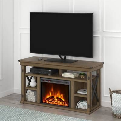 """Favorite Lansing Tv Stands For Tvs Up To 55"""" Regarding Wyatt Tv Stand For Tvs Up To 50"""" With Fireplace Included (View 12 of 15)"""