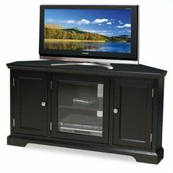 Favorite Priya Corner Tv Stands Inside Leick Black Hardwood Corner Tv Stand, 46 Inch (View 2 of 15)