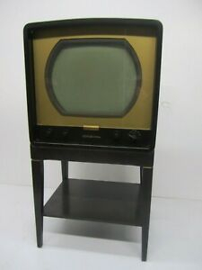 Favorite Tv Stands For Tube Tvs Inside Vtg 1950S Rca Victor 6 T 53 6T53 Newport Metal Tube (View 15 of 15)