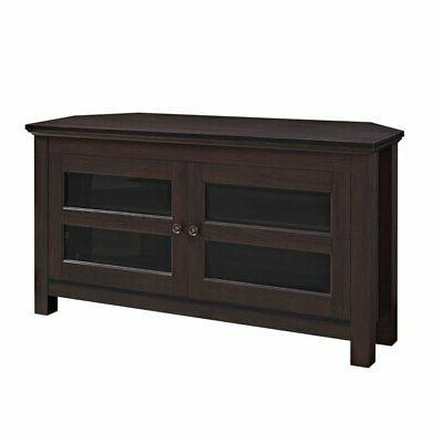 Favorite Walker Edison Contemporary Tall Tv Stands With Walker Edison Black Corner Tv Stand For Tvs (View 9 of 15)