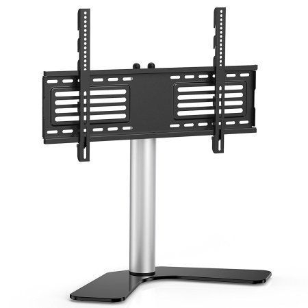 """Favorite Whalen Furniture Black Tv Stands For 65"""" Flat Panel Tvs With Tempered Glass Shelves In Fitueyes Universal Swivel Tabletop Tv Stand Base For Up To (View 4 of 15)"""