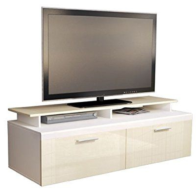 Favorite White High Gloss Tv Stands For Tv Stand Unit Atlanta, Carcass In White Matt / Front In (View 3 of 15)