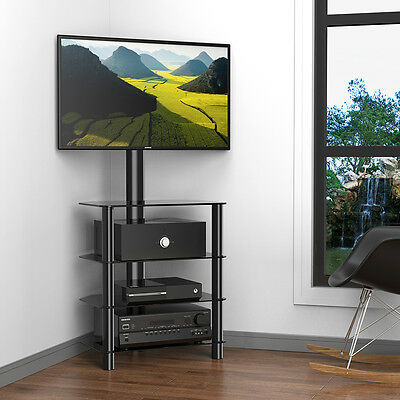 """Fitueyes Corner Tv Stand With Swivel Mount For 32"""" 50"""" Tvs In Most Recent Hex Corner Tv Stands (View 8 of 15)"""