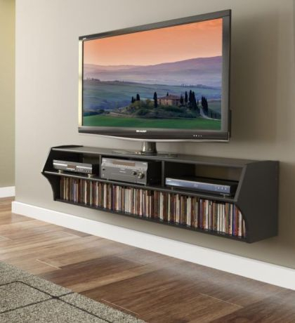 Floating Tv With Preferred Tv Stands And Bookshelf (View 15 of 15)