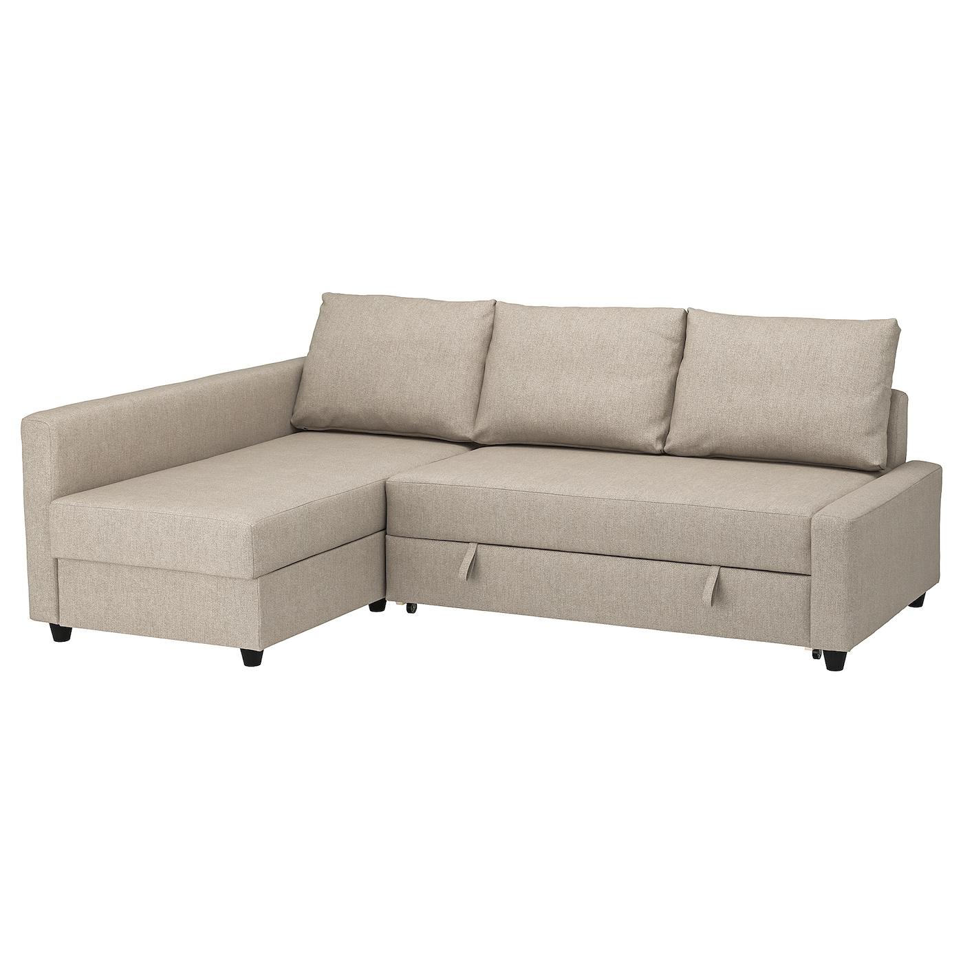 Friheten Corner Sofa Bed With Storage – Hyllie Beige – Ikea Throughout Ikea Corner Sofas With Storage (View 15 of 15)